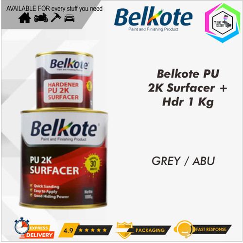 Foto Produk Belkote Epoxy PU 2K Filler Surfacer Cat Dasar Epoksi 1kg dari PAINT COLOUR