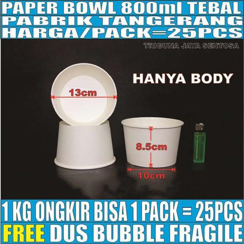 Foto Produk Paper bowl tebal 800ml mangkuk tahan microwave mangkok kertas 800 ml dari Triguna Jaya Sentosa Trifinity
