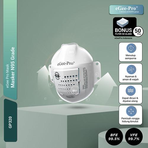 Foto Produk Masker N95 Grade eGeePro (GP320) + 50 Pcs N95 Grade Filters dari eGeePro Indonesia