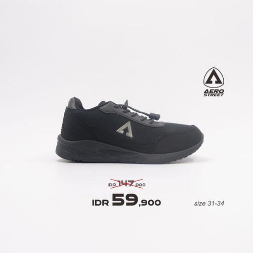 Foto Produk Aerostreet 35-38 Jarvis Full Black -Sepatu Sneakers Casual Pria - 35 dari Aerostreet