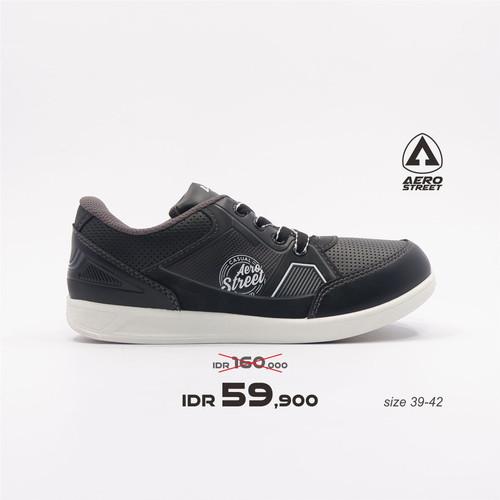 Foto Produk Aerostreet 39-42-Pabours-Hitam Abu-Sepatu Sneakers Pria - 39 dari Aerostreet