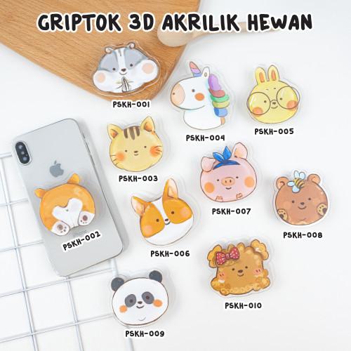 Foto Produk HEWAN - Griptok Akrilik/ Phone Holder/ Phone Stand/ Phone Grip - PSKH-001 dari Kelontong Unik