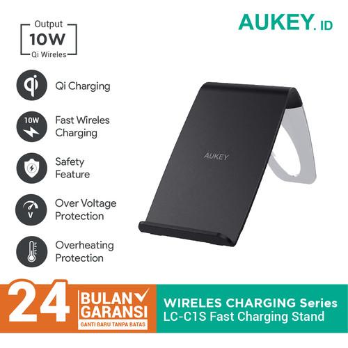 Foto Produk Aukey Wireless Charger LC-C1S 10W Fast Charging Stand - 500411 dari Aukey Makassar