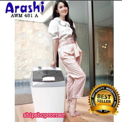 Foto Produk mesin cuci Laundry portable 4,5 kg ARASHI AWM 451A dari ShipShopCorner