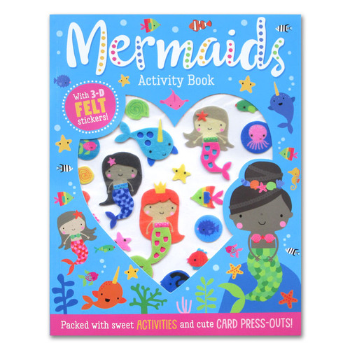 Foto Produk Mermaid Activity Book With 3-D Felt Stickers! (Packed With Sweet Activ dari HappyBunnyBooks