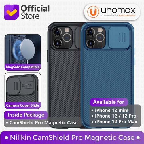 Foto Produk Case iPhone 12/mini/Pro/Max Nillkin CamShield Magnetic MagSafe Camera - 12 Pro Max, Black dari unomax