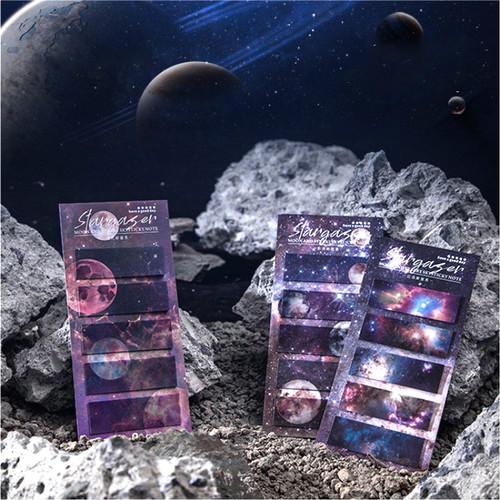 Foto Produk Stargazer Space Label Memo Set - Kertas Catatan - Catatan Kecil dari Pinkabulous