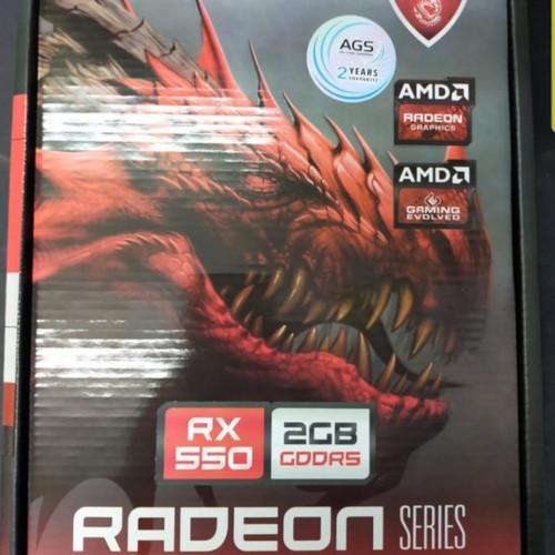 Foto Produk RX 550 2GB 128BIT DDR5 dari AL computerr