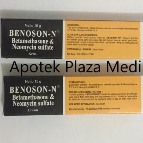Foto Produk Benoson N Cream 15 Gram - Krim Alergi Kulit dan Infeksi dari Plaza Medika