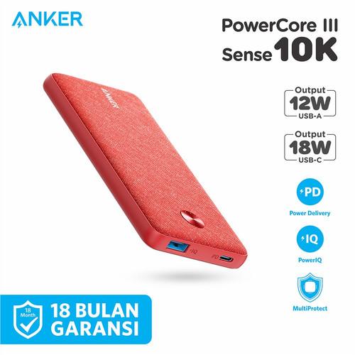 Foto Produk Powerbank Anker Powercore III Sense 10K PD - A1231 - Merah Muda dari Anker Indonesia
