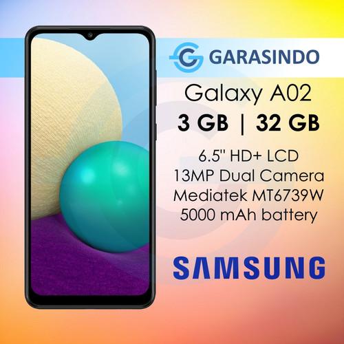 Foto Produk Samsung Galaxy A02 3/32 GB 3GB 32GB Garansi Resmi SEIN - Hitam dari Garasi.ku