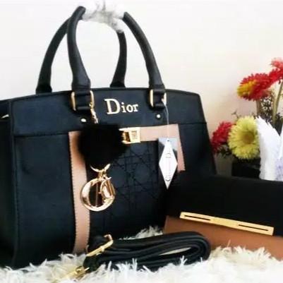 Foto Produk Tas wanita tas fashion set dompet - Hitam dari hafizah&epashop