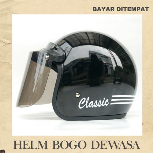 Foto Produk HELM BOGO CLASSIC HITAM - HELM SAJA dari Dunia HelmMurah Surabaya