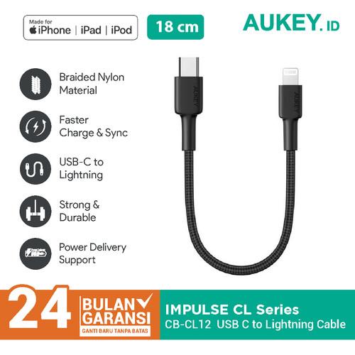 Foto Produk Kabel iPhone Aukey CB-CL12 USB C to Ligthning Portable 18cm - 500707 dari Aukey Makassar