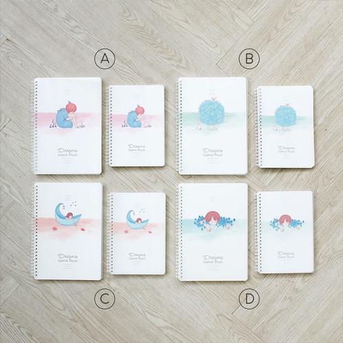 Foto Produk Dreams Come True Spiral Ruled Notebook B5 / Buku Catatan B5 / Buku B5 - VARIAN A dari Pinkabulous