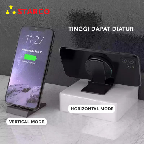Foto Produk Starco 3 in 1 Wireless Charger Stand Holder Pad Dock Fast Charging dari Starco Official Store