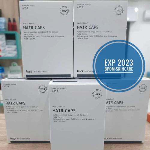 Foto Produk Inno-Caps Hair isi 60 Suplemen Penumbuh Rambut/Anti Rontok Biotin dari BPOM-Skincare