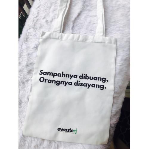 Foto Produk Tote Bag Kata EwasteRJ - Unisex - White dari EwasteRJ Shop