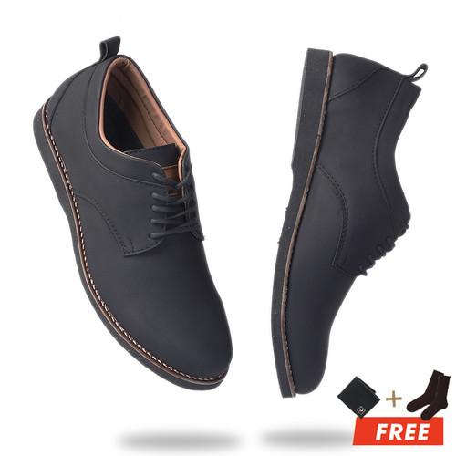 Foto Produk MOOFEAT KURO - SEPATU PRIA PANTOFEL FORMAL KERJA COKLAT KULIT ORIGINAL - Hitam, 39 dari Moofeat Footwear