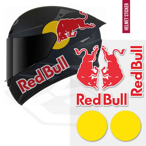 Foto Produk Sticker Decal Redbull Set Body Helm kyt shoei arai shark kbc ink zeus dari Fuel