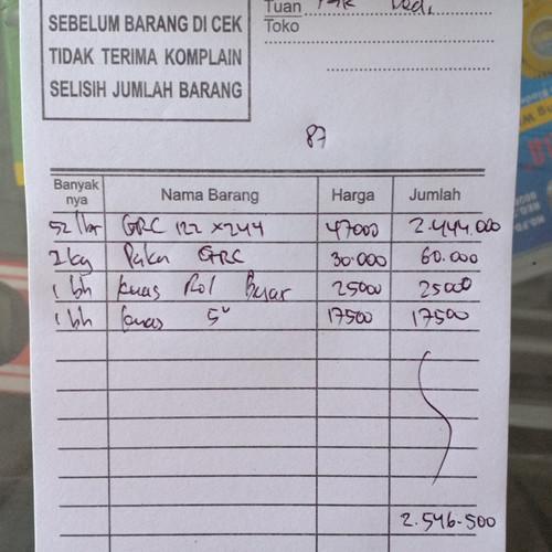 Foto Produk Cos Pak Dedi 17/02/21 dari TB Sinar Baja