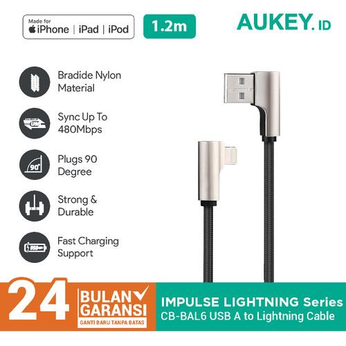 Foto Produk Aukey Cable CB-BAL6 1m MFi Lightning Braided Nylon – 500340 dari Aukey Makassar