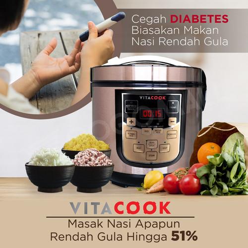Foto Produk Homzace Vitacook Low Carbo Muticooker 100% Asli Gogomall Garansi 1 th dari Gogomall Official Store