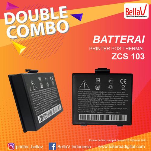 Foto Produk Batre Printer Bluetooth BellaV ZCS 103 dari toserba digital