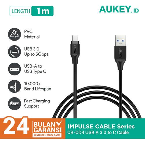 Foto Produk Aukey Cable CB-CD4 1M PVC USB 3.0 A to C - 500199 dari Aukey Makassar