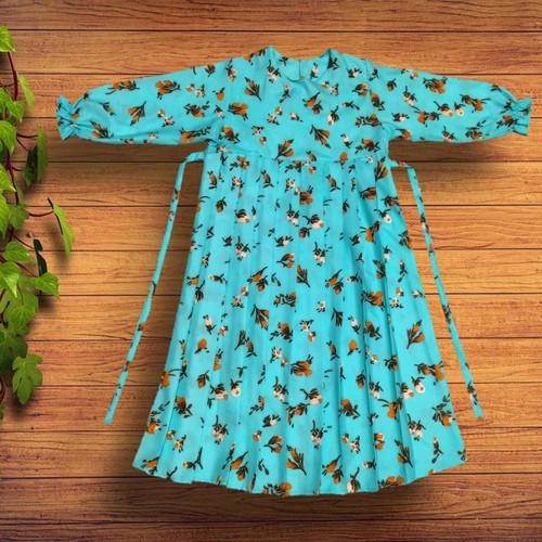 Foto Produk Gamis anak perempuan - Bunga Biru, M dari YKS_STORE01