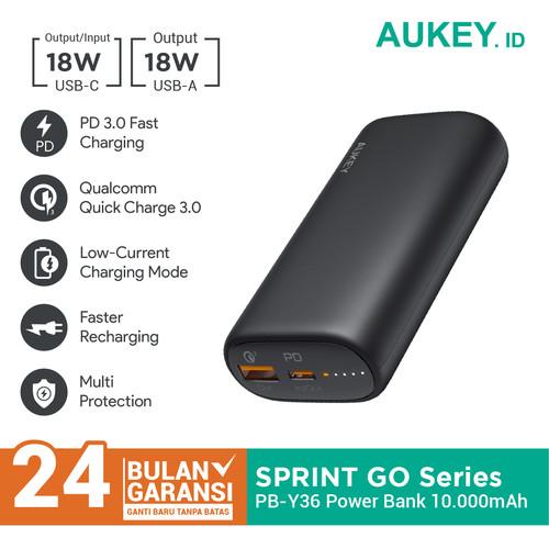 Foto Produk Aukey Powerbank PB-Y36 Sprint Go Mini 10000mAh PD - 500461 dari Aukey Makassar