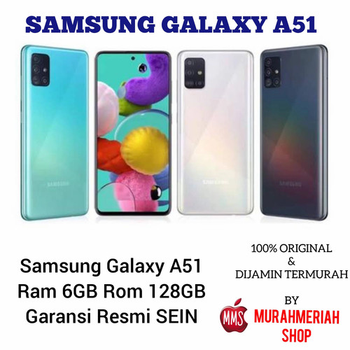 Foto Produk SAMSUNG GALAXY A51 6/128 GARANSI RESMI SEIN - Hitam dari murahmeriah shop