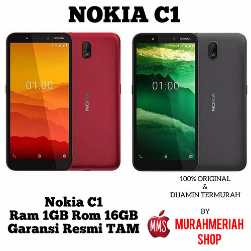 Foto Produk Nokia C1 2020 1/16 Garansi Resmi Tam - chorcoal Hitam dari murahmeriah shop