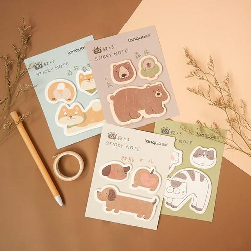 Foto Produk Forest Cute Pet Mini Sticky Notes Set - Catatan Tempel - Post It - BEAR dari Pinkabulous