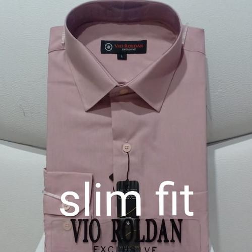 Foto Produk Kemeja Polos Lengan Panjang Kemeja Formal Pria ROSE GOLD - ROSE GOLD SLIM, L dari VIO ROLDAN OFFICIAL