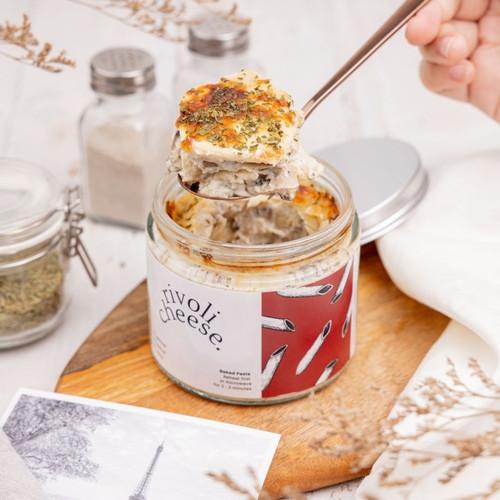 Foto Produk Rivoli Cheese / Baked Pasta in a Jar / Cooked Pasta - Jar Glass dari Paris di Jakarta