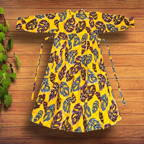 Foto Produk Gamis Rempel Anak - Kuning - M dari YKS_STORE01