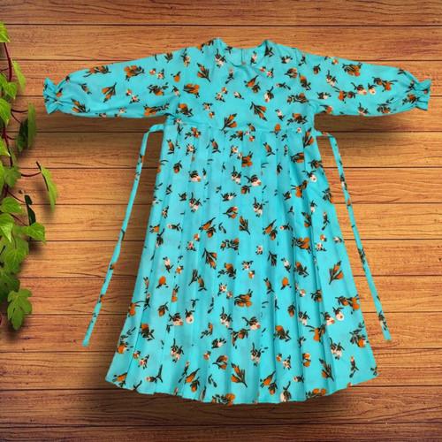 Foto Produk Baju Gamis anak Rempel plus kerudung - Bunga melati, M dari YKS_STORE01
