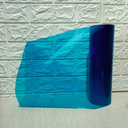 Foto Produk Stiker Lampu Hybrid Sticker Light Blue Uk 30CM X 100CM - Biru dari Prime Auto Variasi