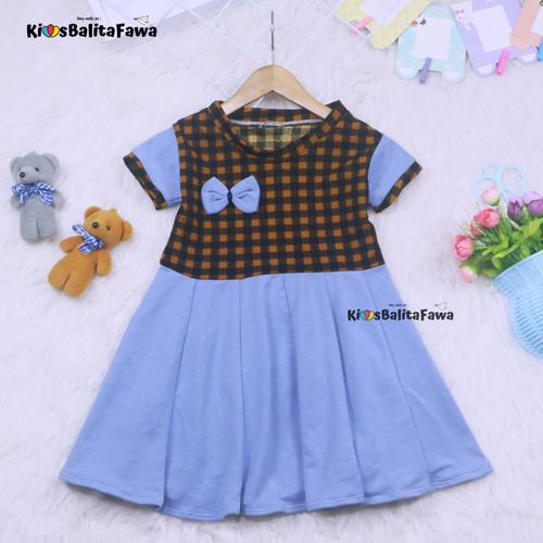 Foto Produk Dress Karin uk 2-3 Tahun / Balita Anak Perempuan Dres Baju Murah dari Kios Balita Fawa