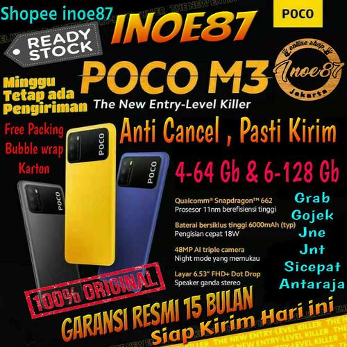 Foto Produk Xiaomi Poco M3 4/64 dan 6/128 Gb Snapdragon 662 Garansi Resmi - Coll Blue, Ram 4/64 Gb dari inoe87