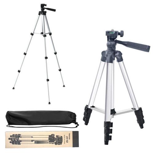 Foto Produk Tripod 3120 3110 Camera dan Handhpone HP android iphone 1 Meter Video - 3110 Silver dari Lucky Luke Merchant