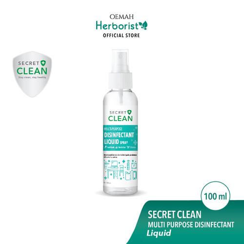 Foto Produk Secret Clean Spray Disinfectant Liquid - 100ml Food Grade dari Oemah Herborist