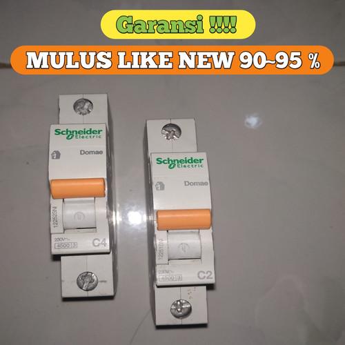 Foto Produk MCB SCHNEIDER DOMAE 1P 2A , 4A ORIGINAL SNI MULUS GARANSI LIKE NEW dari ASAAH Elektrik
