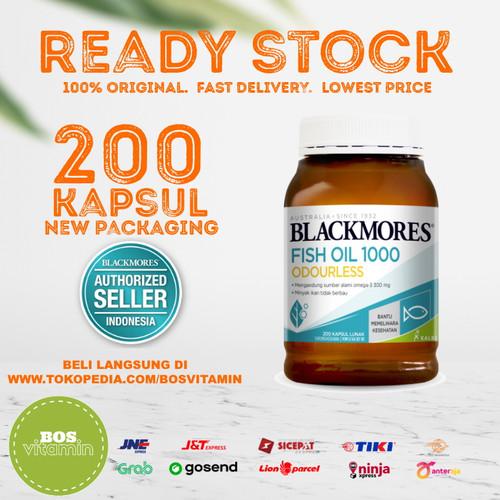 Foto Produk Blackmores Odourless Fish Oil 1000mg BPOM Kalbe - 200 kapsul dari Bos Vitamin