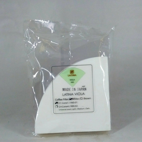 Foto Produk Kertas Saringan Kopi Latina V60 Viola Coffee Paper Filter Size 01 40P dari Kopi Jayakarta