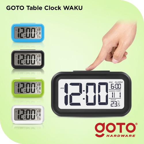 Foto Produk Goto Waku Table Clock LED Jam Meja Digital Smart Alarm - Hijau dari GOTO Hardware