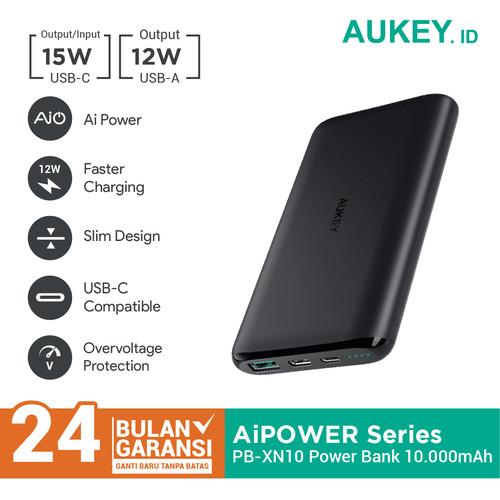 Foto Produk Aukey Powerbank PB-XN10 10000 mAh USB C AiQ - 500330 dari Aukey Makassar