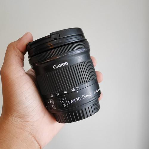 Foto Produk LENSA CANON EF-S 10-18mm IS STM LENGKAP sn 2274 dari kamera mbantul