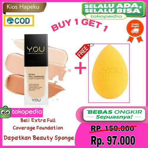 Foto Produk Kosmetik YOU Extra Full Coverage Liquid Foundation/Alas Bedak BPOM - LIGHT, 1 Pcs dari kios hapeku